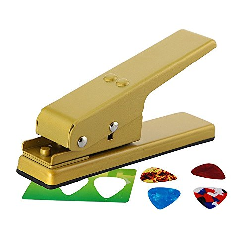 Pick Maker|Guitar Plectrum Punch Cutter|Guitar Pick Maker kit|Card Cutter|Guitar pick maker machine(Gold) Gold 1 Mm Machine