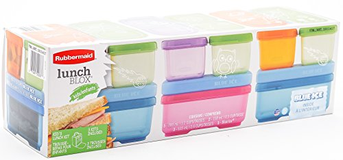 Rubbermaid LunchBox Sandwich Kit, Food Storage Container, Blue & Pink. 3 Kit Bundle - Rubbermaid Containers Orange