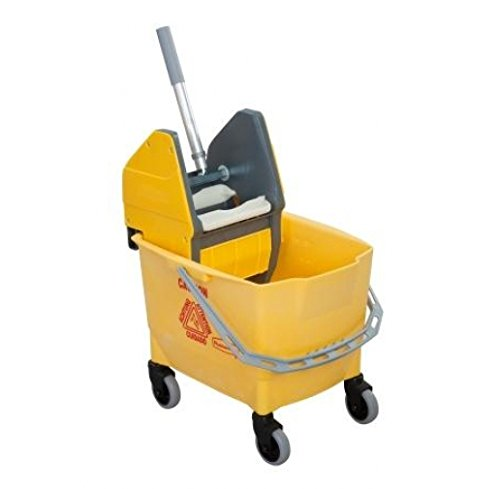 Rubbermaid Commercial Products R014152 Wischmoppeimer Combo Bravo mit Wringvorrichtung, 25 L, Gelb