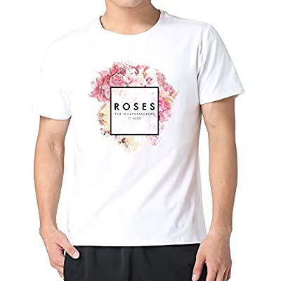 Men The Chainsmokers Roses Album Cover Tshirts 100% Cotton White