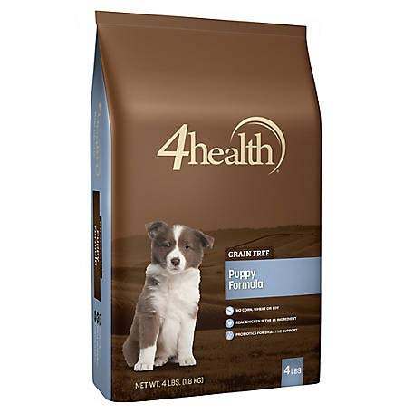 4 Puppy - 4health Tractor Supply Company Grain Free Puppy Formula Dog Food, Dry, 4 lb. Bag