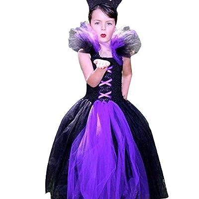 Fiaya Halloween Costume Toddler Kids Baby Girls Queen King Heart Print Tutu Dress Party Costume | 18M-6T