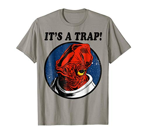 Star Wars Admiral Ackbar IT'S A TRAP! Quote Graphic T-Shirt