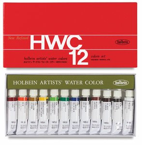 Holbein Artist's Watercolors Set of 12 5ml Tubes W401