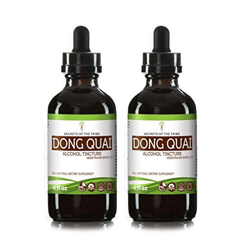 Dong Quai Tincture Alcohol Liquid Extract, Organic Dong quai (Angelica sinensis) Dried Root (2x4 FL OZ) ()