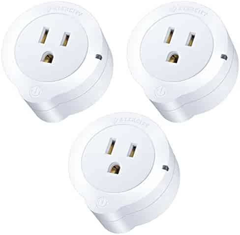 Etekcity 3 Pack Voltson WiFi Smart Plug Mini Outlet with Energy Monitoring, Works with Amazon Alexa Echo and Google Home, No Hub Required, White