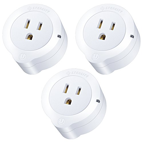 Etekcity WiFi Smart Plug, Voltson Mini Outlet with Energy Monitoring (3-Pack), No Hub Required, ETL Listed, White, Works with Alexa, Google Home and IFTTT