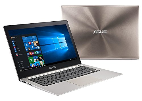 Latest ASUS ZenBook 13.3' inch Full HD (1920x1080) IPS Laptop (Intel i5-6200U up to 2.8GHz, 12GB, 1TB HDD, Backlit keyboard, HD Webcam, Bluetooth 4.1, Windows 10 Smoky Brown)