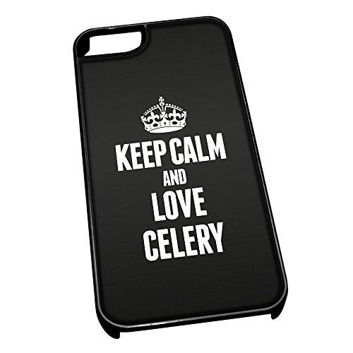 Nero cover per iPhone 5/5S 0926nero Keep Calm and Love sedano