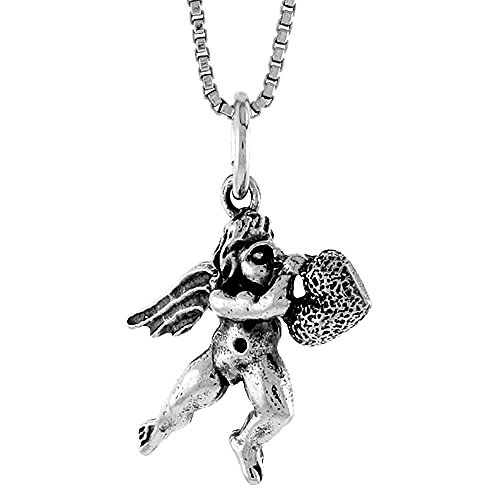 Sterling Silver Cupid Pendant, 5/8 inch Tall