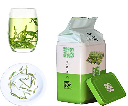 JQ Xihu Dragon Well Green Tea - Authentic Hangzhou Origin - West Lake Longjing Loose Leaf - (Second Grade - 5.3 oz/1 bag) Natural Nothing Add