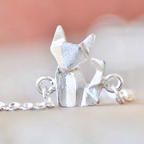 Origami Fox Charm Bracelet in Sterling Silver - Jamber Jewels -