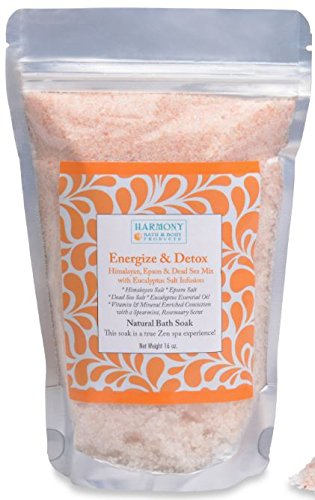 (Best Himalayan Salt Mix - Best Bath Salt - Energize & Detox - The Most Amazing Sea Salt Mix Bath Soak! Energizes and Detox the Body and Spirit - Can Also Be Used As a Foot Soak or a Face/body Scrub)