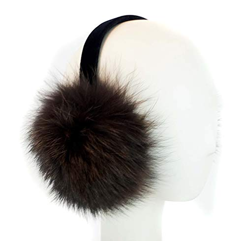 Surell Fox Fur Earmuff with Velvet Band - Winter Ear for sale  Delivered anywhere in USA