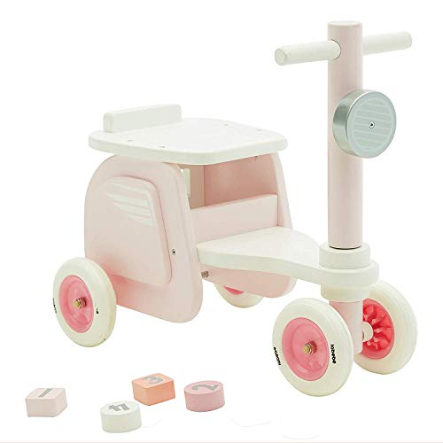 - 【New】labebe - Kid Ride On Pink, Ride-On Motorcycle for Baby 1-3 Years Old, Boy&Girl Sit Ride Push Toy, Wooden Motor Ride, Child Wood Balance Bike,Indoor&Outdoor Walker Toy Ride, First Birthday Gift