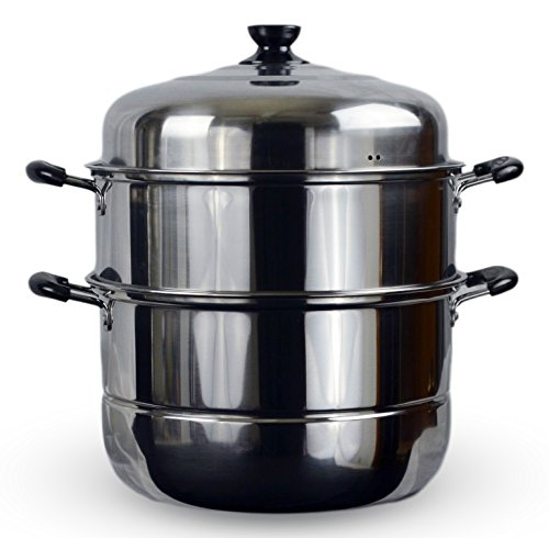 3 Tier Stainless Steel Steamer Cookware Pot (14