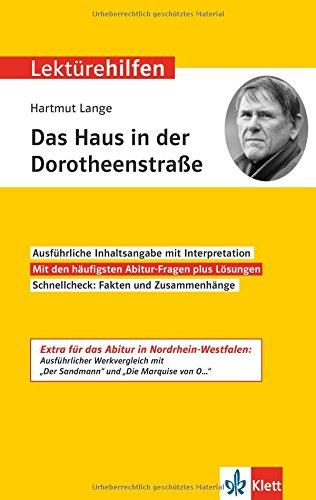 Klett Lektürehilfen Hartmut Lange, Das ...
