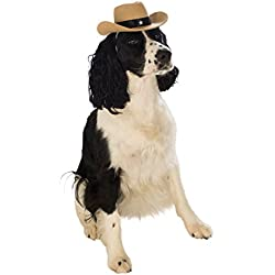 Rubies Costume Company Cowboy Hat Pet Costume Accessory, Medium/Large, Brown