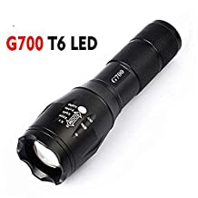 Feccoe Zoomable 8 Modes Focus LED Lighting Lamp Flashlight Torch