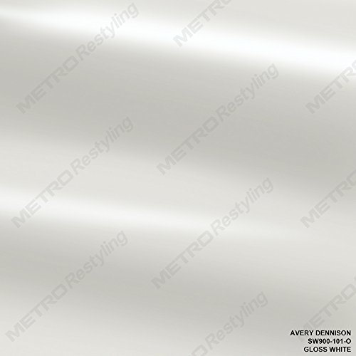 Avery SW900-101-O GLOSS WHITE 5ft x 2ft (10 Sq/ft) Supreme Vinyl Car Wrap (Avery Gloss)