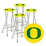 mobile garden stool - Best of Times Collegiate Bar Stools, Oregon, Set of 4