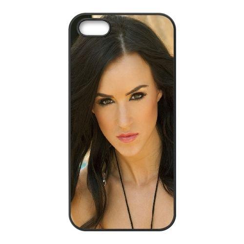 Brunette Face Makeup Eyes Beautiful coque iPhone 4 4S cellulaire cas coque de téléphone cas téléphone cellulaire noir couvercle EEEXLKNBC23883