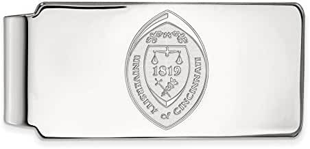 10k White Gold LogoArt Official Licensed Collegiate University of Cincinnati (UC) Money Clip Crest