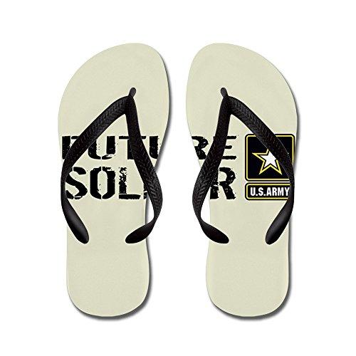 Cafepress Us Army: Future Soldier (sand) - Flip Flops, Grappige String Sandalen, Strand Sandalen Zwart