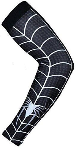 Baseball Sports Compression Arm Sleeve (Youth Large) - Black Spiderman
