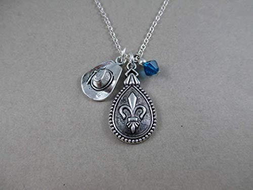 The Three Musketeers Inspired Fleur de Lis Charm Necklace]()