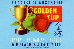 "Paper poster printed on 12"" x 18"" stock. Golden Cup"