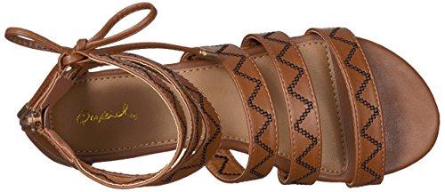 Qupid Women's Jamilla-13 Gladiator Sandal Cognac Polyurethane fKAynm8