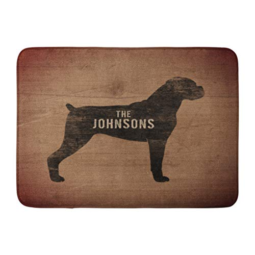 Boxer Door Mat - Custom Doormats Boxer Dog Home Door Mats 18 x 30 inches Entrance Mat Floor Rug Indoor/Outdoor/Front Door/Bathroom Mats Rubber Non Slip