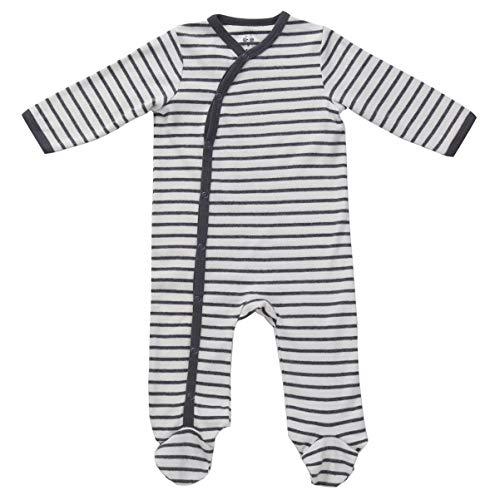 Unisex Footed Pajamas Side Snap Onesies Footie Baby Black Jammies 3-6 (Best Newborn Gins)
