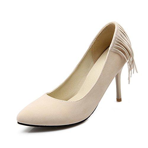 Carissime Scarpe Da Donna Con Nappine A Spillo Stiletto Beige