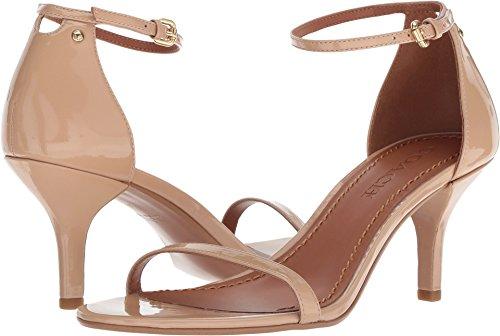 Coach Women's Heeled Sandal Beechwood Patent Leather 7.5 M US