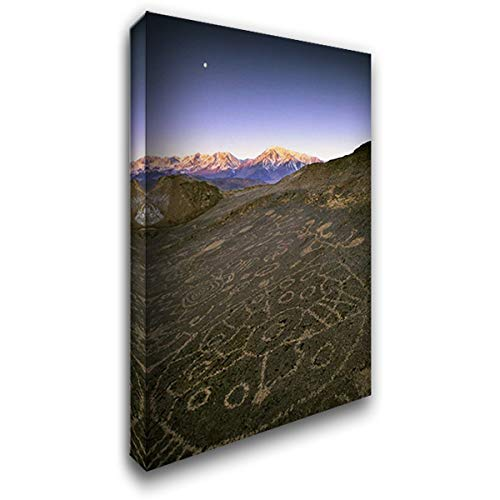 - Nevada Sierra Nevada, Great Basin, Petroglyphs 26x39 Gallery Wrapped Stretched Canvas Art by Flaherty, Dennis