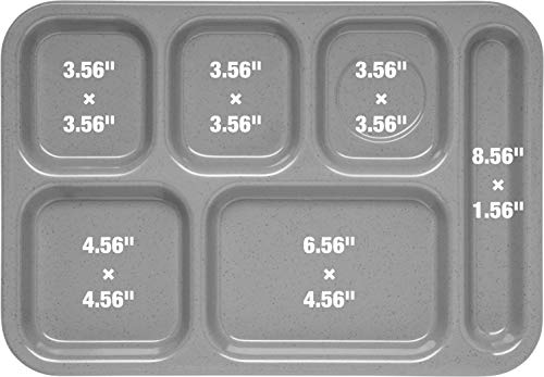 Carlisle 614R03 ABS Right-Hand 6-Compartment Divided Tray, 14