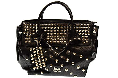 BLACK con borchie borsa Nero PON 810 a mano donna SECRET 390001A PON xwYO0Bqgv