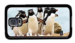 Hipster personalized Samsung Galaxy S5 Case rockhopper penguins PC Black for Samsung S5