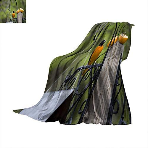 Angoueleven Soft Blanket Microfiber Baltimore Oriole Throw Blanket 90