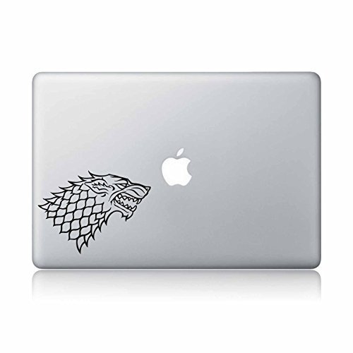 Price comparison product image Game Of Thrones House Stark Direwolf Macbook Decal Vinyl Sticker Apple Mac Air Pro Laptop Sticker