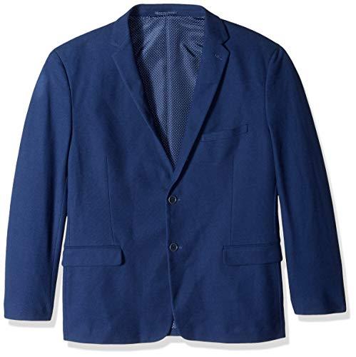 U.S. Polo Assn. Men's Big and Tall Cotton Blend Knit Sport Coat, Indigo, 52 Long