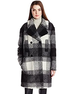 7 For All Mankind Women's Double Breasted Coat