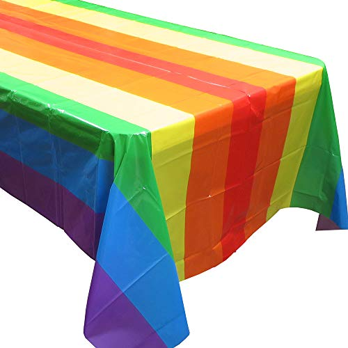 Rainbow Party Tablecovers (2), Rainbow Birthdays, Rainbow Party Supplies and Decorations -
