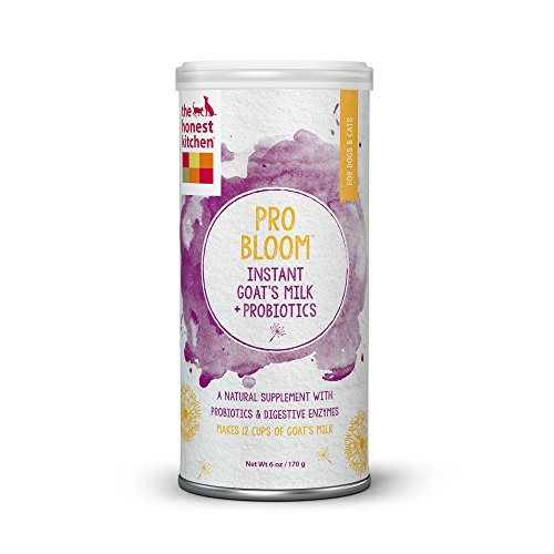 The Honest Kitchen Pro Bloom  Dehydrated Instant Goat's Milk with Probiotics for Dogs & Cats, 6 oz