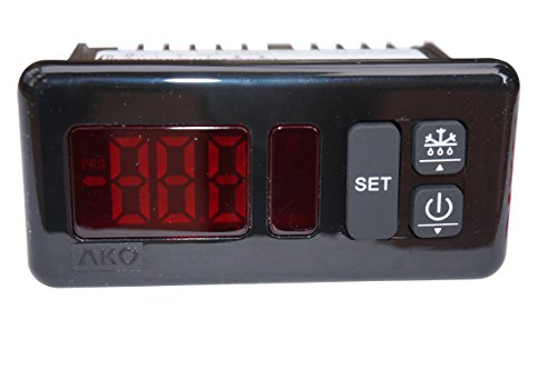 AKO-D14123 Temperature Controller Thermostat 230v | All-Purpose Commercial Refrigeration Thermostat, Digital Controller for Refrigeration: Food Display Cases, Incubators, Walk In Coolers ()