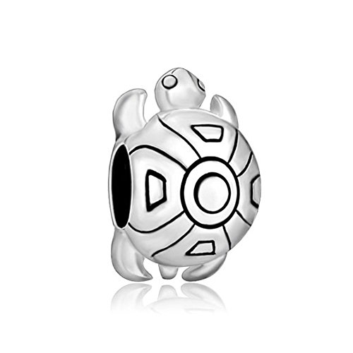 ClayCharm Sea Turtle 925 Sterling Silver Tortoise Charm Fit Charms - Tortoise Silver