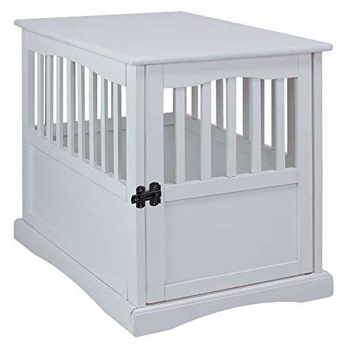 ooden Pet Crate, White, 24
