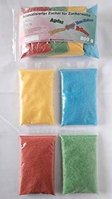 Azúcar para algodón de azúcar colorido con sabor 4 x 200 g ...